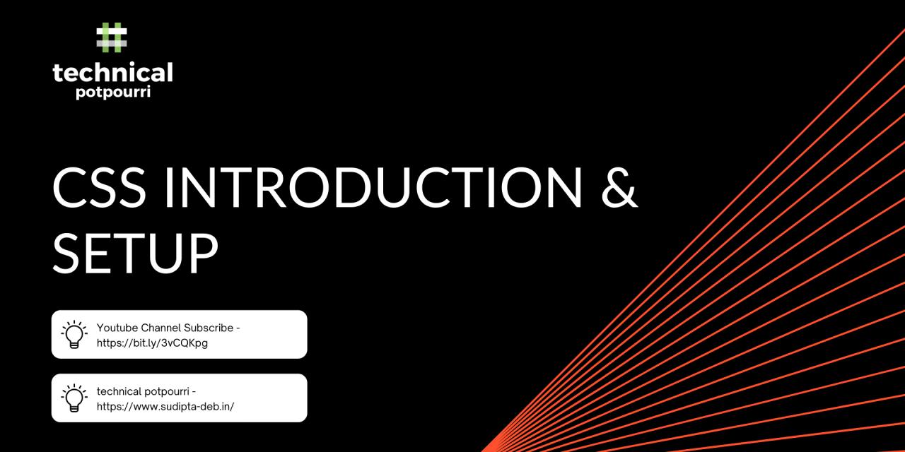 CSS Introduction & Setup – Part 1 of Fundamental CSS Tutorial