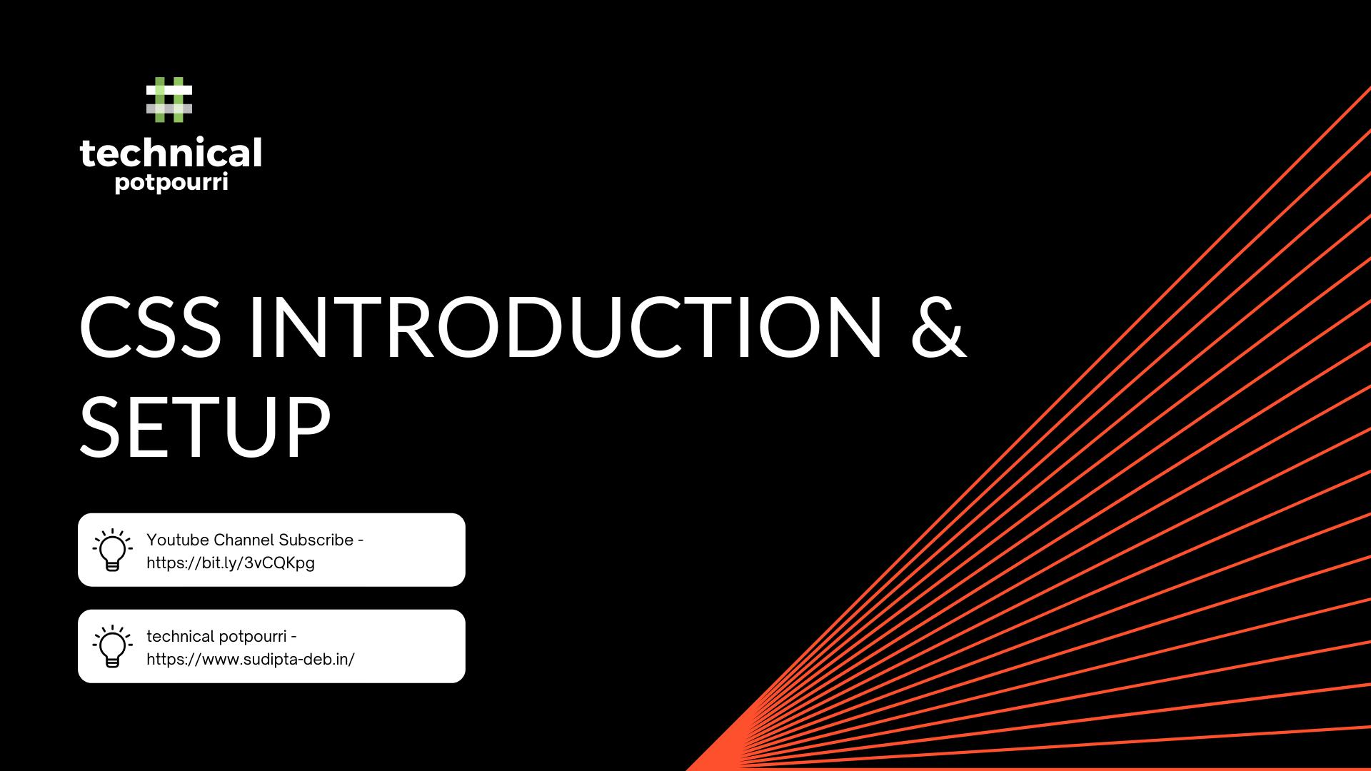 CSS Introduction & Setup